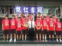 晨間獻獎~女籃參加105學年度新北市中等學校籃球錦標賽榮獲冠軍